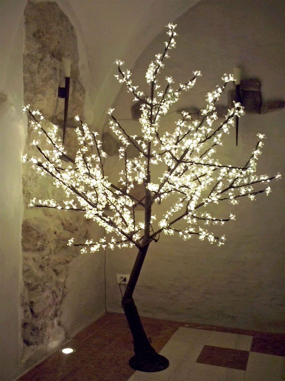 Albero a led ciliegio 200 cm atmosphera for Albero di natale led